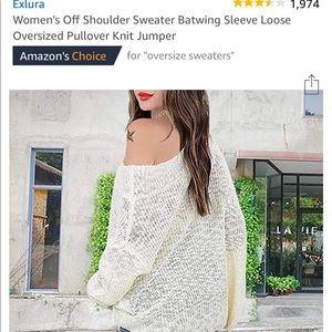Off white XL-XXL bat wing sweater